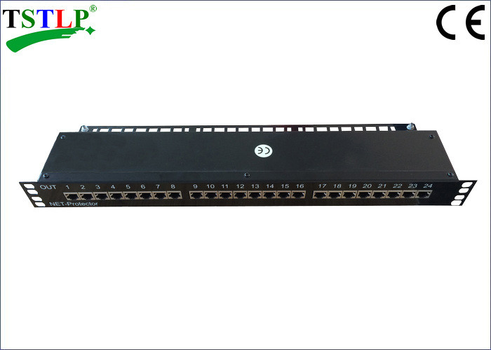 1000 Mbits/S RJ45 Surge Protector , Ethernet Surge Protector With 24 Channel Ports