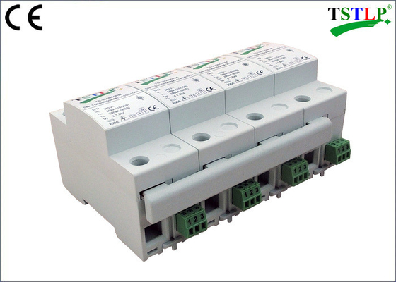 China 8 Mods Din Rail Mount Three Phase Lightning Surge Protector For Db Board factory