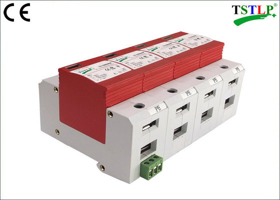 China CE Certified 3 Phase Surge Suppressor ,  30kA Mov Ac Surge Suppressor With Din Rail Mounted factory