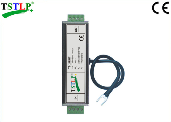 China 24v - 30v Network Surge Suppressor , Network Lightning Arrester With RM Connectors factory