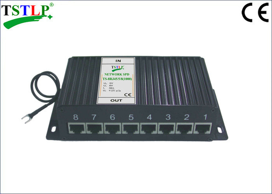 China 8 Channel Ports Ethernet Surge Suppressor 1000Mbits/S Cat6 Surge Suppressor factory